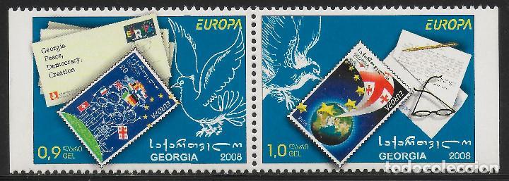 GEORGIA 2008 EUROPA CEPT SET A DEL CARNET NUEVO MNH (Sellos - Temáticas - Europa Cept)