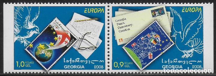 GEORGIA 2008 EUROPA CEPT SET B DEL CARNET NUEVO MNH (Sellos - Temáticas - Europa Cept)