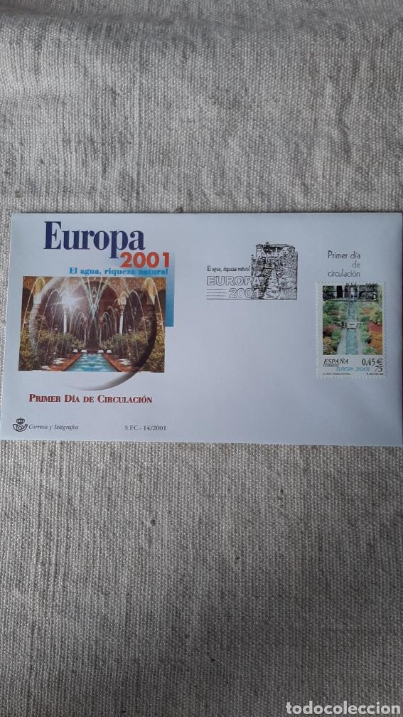 EDIFIL 3796 USADO MATASELLO EUROPA 2001 GRANADA ESPAÑA FILATELIA COLISEVM (Sellos - Temáticas - Europa Cept)