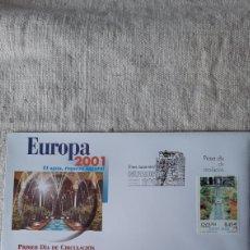 Sellos: EDIFIL 3796 USADO MATASELLO EUROPA 2001 GRANADA ESPAÑA FILATELIA COLISEVM. Lote 236579155