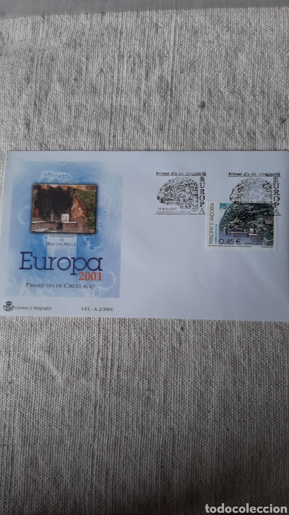 EDIFIL 285 ANDORRA ESPAÑOLA EUROPA SFC A2 2001 FILATELIA COLISEVM NUMISMÁTICA (Sellos - Temáticas - Europa Cept)
