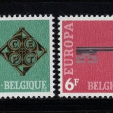 Sellos: BÉLGICA 1452/53** - AÑO 1968 - EUROPA. Lote 237118045