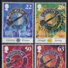 Sellos: ISLA DE MAN 1999 IVERT 850/3 *** CENTENARIO SOCIEDAD GAELICA DE MAN - CONSERVACIÓN DE LA LENGUA. Lote 240495860
