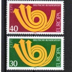 Sellos: ALEMANIA / GERMANY / AÑO 1973 YVERT NR. 618/19 NUEVO EUROPA CEPT. Lote 242399815
