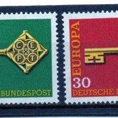 Sellos: ALEMANIA / GERMANY / AÑO 1968 YVERT NR. 423/24 NUEVO EUROPA CEPT. Lote 242400060