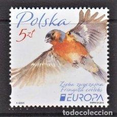 Sellos: 88.- POLONIA 2019 EUROPA 2019 AVES NACIONALES. Lote 243032545