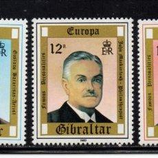 Sellos: GIBRALTAR 407/09** - AÑO 1980 - EUROPA - PERSONAJES. Lote 243886135