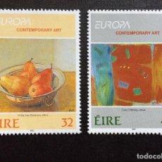 Sellos: IRLANDA Nº YVERT 828/9*** AÑO 1993. EUROPA. ARTE CONTEMPORANEO. Lote 243900695