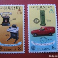 Sellos: *GUERNSEY, 1979, EUROPA, SERVICIO POSTAL Y TELECOMUNICACIONES, YVERT 184/5. Lote 243983895