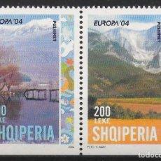 Sellos: ALBANIA 2004 EUROPA CEPT SET A DEL CARNET NUEVO MNH. Lote 245054615