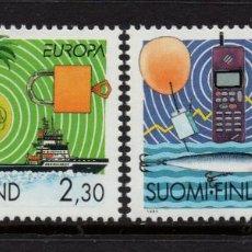 Sellos: FINLANDIA 1214/15** - AÑO 1994 - EUROPA - LOS DESCUBRIMIENTOS. Lote 245446150