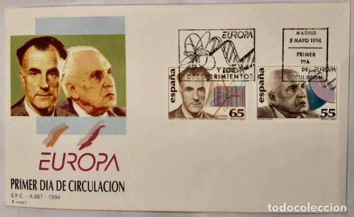 MATASELLOS PRIMER DÍA. ESPAÑA 1994. EUROPA. DESCUBRIDORES (Sellos - Temáticas - Europa Cept)