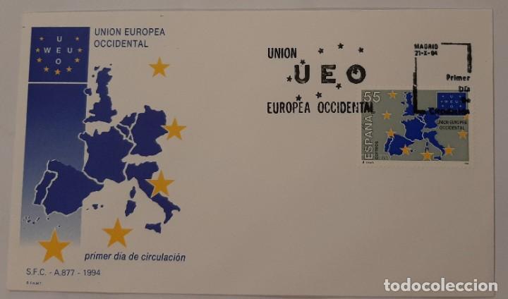 MATASELLOS PRIMER DÍA. ESPAÑA 1994. UNIÓN EUROPEA OCCIDENTAL (Sellos - Temáticas - Europa Cept)