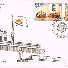Sellos: CHIPRE IVERT Nº 561/2, EUROPA 1982, LIBERACIÓN DE CHIPRE Y CONVERSION AL CRISTIANISMO, SPD 3-5-1983. Lote 247111740