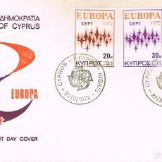 Sellos: CHIPRE IVERT Nº 366/8, EUROPA 1972, PRIMER DIA DE 22-5-1972 SFC. Lote 247115515
