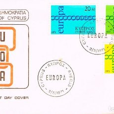 Sellos: CHIPRE IVERT Nº 351/3, EUROPA 1971, PRIMER DIA DE 3-5-1971 SFC. Lote 247115710