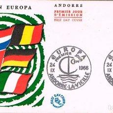 Sellos: ANDORRA FRANCESA EDIFIL 198, EUROPA 1966, PRIMER DIA DE 24-9-1966. Lote 247116055