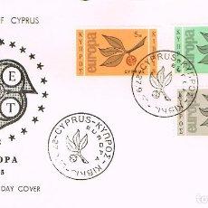 Sellos: CHIPRE IVERT 250/2, EUROPA 1965, PRIMER DIA DE 27-9-1965. Lote 247116555