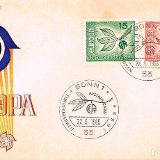 Sellos: ALEMANIA Nº 350/1, EUROPA 1965, PRIMER DIA 27-9-1965. Lote 247116905