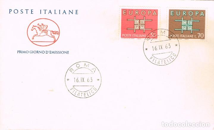 ITALIA IVERT Nº 895/6, EUROPA 1963, PRIMER DIA DE 16-9-1963 (Sellos - Temáticas - Europa Cept)