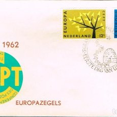 Sellos: HOLANDA IVERT 758/9, EUROPA 1962, PRIMER DIA DE 7-9-1962. Lote 247133995
