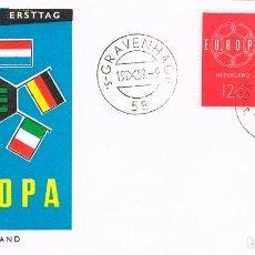 Sellos: HOLANDA IVERT 726/7, EUROPA 1960, PRIMER DIA DE 19-9-1960. Lote 247135635