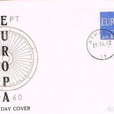 Sellos: GRECIA IVERT 724, EUROPA 1960, PRIMER DIA DE 19-9-1960. Lote 247135770