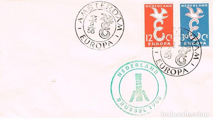 HOLANDA, EUROPA 1958, PRIMER DIA DE 13-9-1958 (Sellos - Temáticas - Europa Cept)