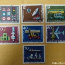 Sellos: ALEMANIA 1965. SERIE COMPLETA INTERNATIONAL TRANSPORT EXHIBITION, MUNICH- USADO. Lote 253184595