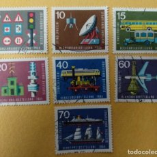 Sellos: ALEMANIA 1965. SERIE COMPLETA INTERNATIONAL TRANSPORT EXHIBITION, MUNICH- USADO. Lote 253184945