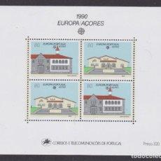 Sellos: AZORES 1990 - EUROPA CEPT HOJA BLOQUE NUEVA SIN FIJASELLOS. Lote 253767355