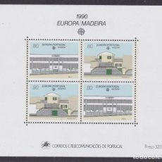 Sellos: MADEIRA 1990 - EUROPA CEPT HOJA BLOQUE NUEVA SIN FIJASELLOS. Lote 253767405