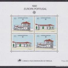 Sellos: PORTUGAL 1990 - EUROPA CEPT HOJA BLOQUE NUEVA SIN FIJASELLOS. Lote 253767450