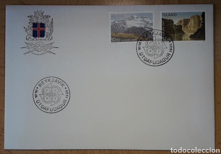 SOBRE PRIMER DÍA ICELAND ISLANDIA 1986 EUROPA CEPT (Sellos - Temáticas - Europa Cept)