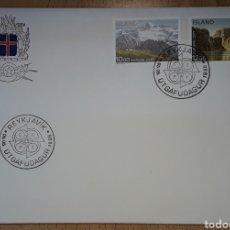 Sellos: SOBRE PRIMER DÍA ICELAND ISLANDIA 1986 EUROPA CEPT. Lote 254011520