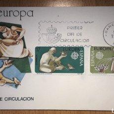 Sellos: SOBRE PRIMER DÍA ESPAÑA EUROPA CEPT 1986. Lote 254035440