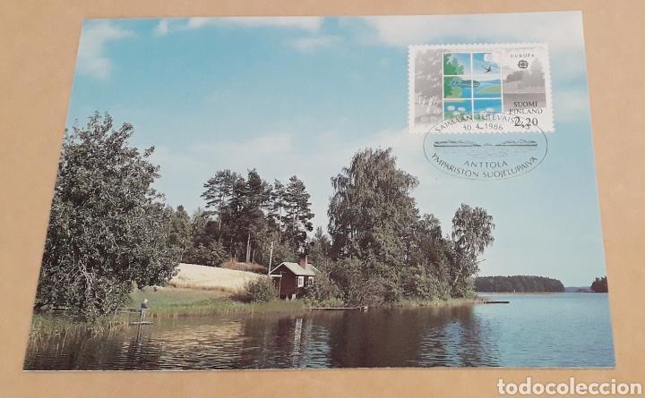 POSTAL TARJETA MÁXIMA SUOMI FINLANDIA EUROPA CEPT 1986 (Sellos - Temáticas - Europa Cept)