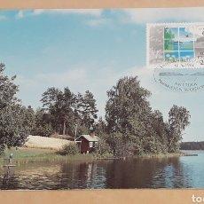 Sellos: POSTAL TARJETA MÁXIMA SUOMI FINLANDIA EUROPA CEPT 1986. Lote 254359735