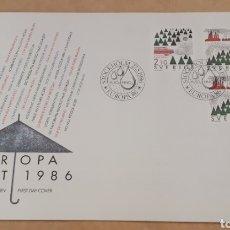 Sellos: SOBRE PRIMER DÍA STOCKHOLM EUROPA CEPT 1986. Lote 254363970