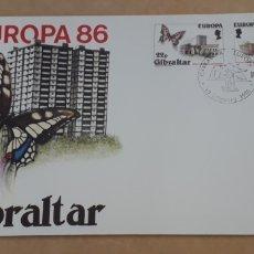 Sellos: SOBRE PRIMER DÍA GIBRALTAR EUROPA CEPT 1986. Lote 254365050