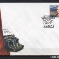 Sellos: FDC, SOBRE DE PRIMER DÍA DE EMISIÓN DE LETONIA -TEMA EUROPA CEPT, MUJERES CELEBRES-, AÑO 1996. Lote 254761650