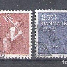 Sellos: DINAMARCA Nº 752/753º EUROPA 1982. ACONTECIMIENTOS HISTÓRICOS. SERIE COMPLETA. Lote 254771140