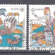 Sellos: ALEMANIA Nº 1436/1437º EUROPA 1992. QUINTO CENTENARIO DEL DESCUBRIMIENTO DE AMÉRICA. SERIE COMPLETA. Lote 254772210