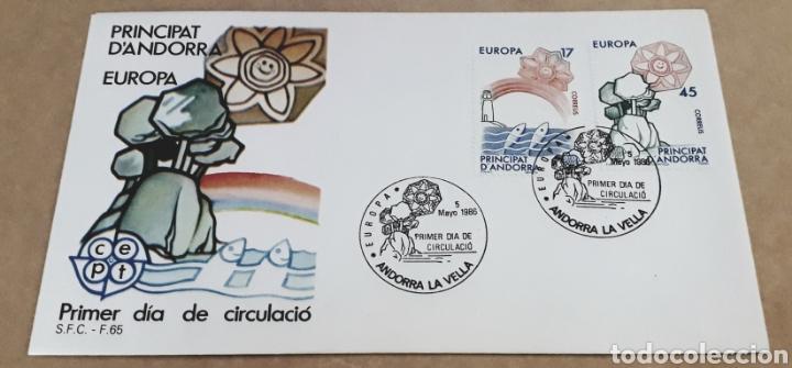 SOBRE PRIMER DÍA ANDORRA EUROPA CEPT 1986 (Sellos - Temáticas - Europa Cept)