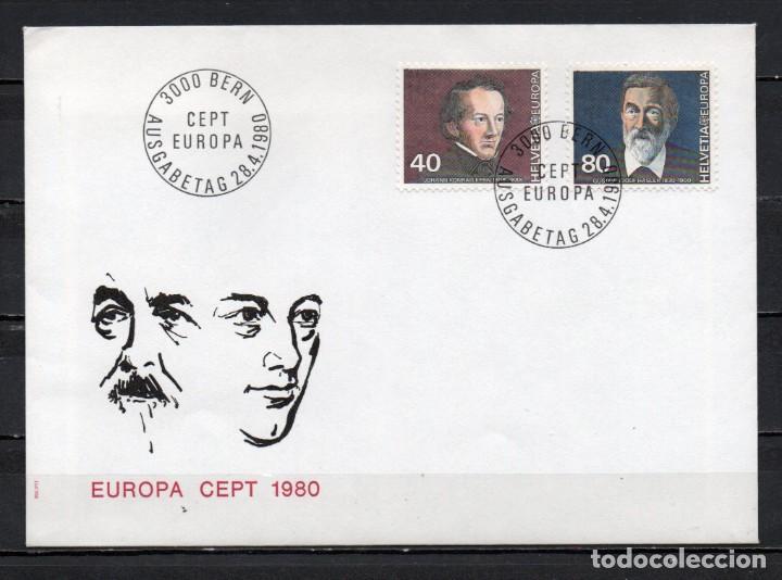FDC, SOBRE DE PRIMER DÍA DE EMISIÓN DE SUIZA -TEMA EUROPA CEPT-, AÑO 1980 (Sellos - Temáticas - Europa Cept)