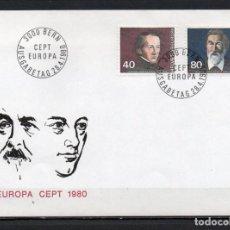 Sellos: FDC, SOBRE DE PRIMER DÍA DE EMISIÓN DE SUIZA -TEMA EUROPA CEPT-, AÑO 1980. Lote 255396000