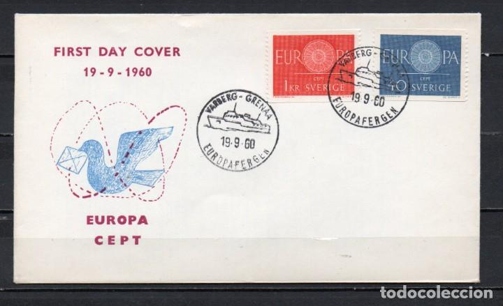 FDC, SOBRE DE PRIMER DÍA DE EMISIÓN DE SUECIA -TEMA EUROPA CEPT-, AÑO 1960 (Sellos - Temáticas - Europa Cept)
