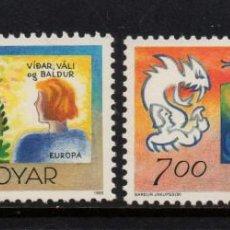 Sellos: FEROE 272/73** - AÑO 1995 - EUROPA - PAZ Y LIBERTAD. Lote 256073210