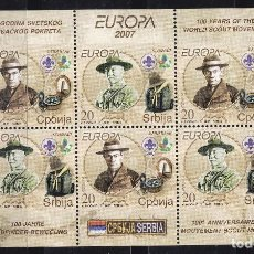 Sellos: EUROPA400 SERBIA 2007 NUEVO ** MNH FACIAL. Lote 257532150