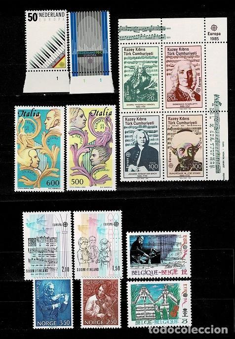 0151 TEMA EUROPA CONJUNTO DE 6 SERIES DE 1985 NUEVAS SIN FIJASELLOS (Sellos - Temáticas - Europa Cept)